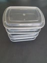 38oz Contenedor de Comida de plástico negro, saque el envase, embalaje de alimentos, sin BPA, microondas, Deli Container Contenedor, recipiente de salsa