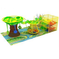 قوس قزح التسلق صافي ملعب ملعب كروتشيد داخلي مخصص الألوان شجرة كهف التسلق شبكة الحبل