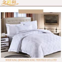 Очередная проверка белого цвета 100% хлопок, постельные принадлежности постельное белье для гостиниц