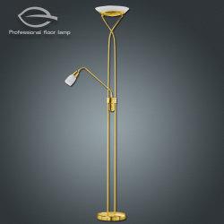 회전식 조광기가 있는 장식용 LED 황동 바닥 램프