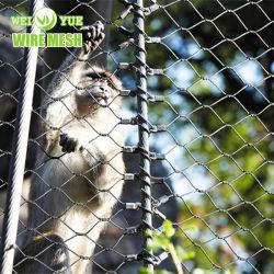 Zoo Ferruled de acero inoxidable malla de alambre malla pajarera de malla de la jaula de animales