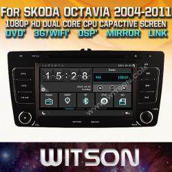 Witson Windows Rádio leitor de DVD estéreo para a Skoda Octavia 2004 2011