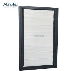Алюминиевое стекло окна жалюзиего обеспеченностью вводит окно шторок Louvered