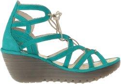 Women Platform Peep Toe Sandals Shoesの上のウェッジStrap Lace