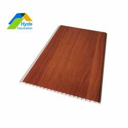Hölzerne Entwurfs-Schlafzimmer-Kurbelgehäuse-Belüftung lamellierte Decken-Vorstand-Plastikwandverkleidungen
