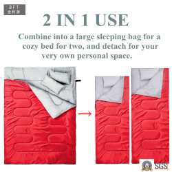 2 1 Doble Camping Saco de dormir