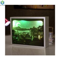 실내 장식을%s Papercut 가벼운 상자 LED 밤 빛