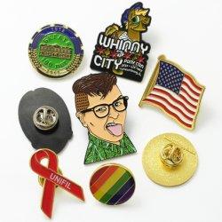 Artículos de promoción de venta al por mayor baratos el emblema de oro hombres logotipo personalizado a granel de Metal Duro Soft enamel insignia de recuerdos insignia de solapa para regalo de promoción