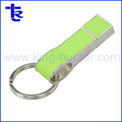 Heißes verkaufendes ledernes USB-Blitz-Laufwerk für förderndes Geschenk
