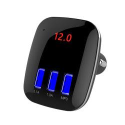 Автомобильный комплект громкой связи Bluetooth беспроводной адаптер FM-передатчик для вызова в формате MP3-плеер три порта USB для сотовых телефонов
