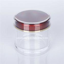 Vide en plastique transparent en acrylique à paroi simple jar pour le thé noir avec délai de livraison rapide