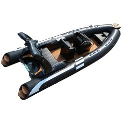 CE الصين الريب الكبير 580 رياضة صيد الأسماك المنبوخة في فيبرجلاس قوارب ذات محرك كهربائي