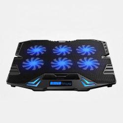 5Os fãs do refrigerador de Laptop com velocidade ajustável 2 USB para notebook portátil Mudo almofada de arrefecimento eléctrico