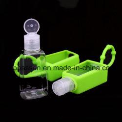 30ml Hand Sanitizer silicone, de cas porte-bouteille Pet bouteille en plastique avec bouchon Flip