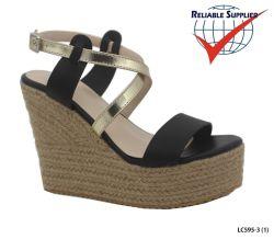 Женщин клин пятки платформы сандалии открытым носком насосы обувь