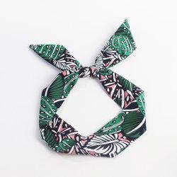 Accessoires de mode ruban de l'oreille de lapin de bandeau de fleur pour les femmes