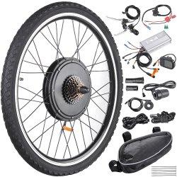 48V Gearless 1000W du moteur du moyeu de vélo électrique Kit de conversion avec batterie au lithium pour vélo électrique