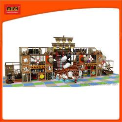Детский деревянными пиратских судов игровая площадка, веревки скалолазание приключение