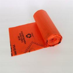 Le PEHD Colorled imprimé Sac Poubelle pour déchets biologiques biodégradable médical