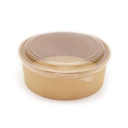 Salada de papel biodegradável//sopa de macarrão Tigela com tampa