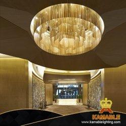 宴会ホール(KJ007)のための装飾的な芸術デザインインテリア・デザインのガラスストリップの装飾的な天井のペンダント灯