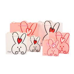 A la venta lindo diseño el Conejo de compras de papel bolsas de regalo Stock