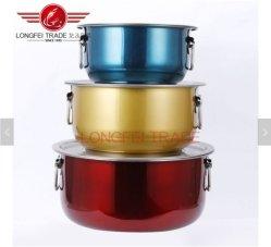 SET di vaserole in acciaio inox 5 PEZZI, set di utensili per cottura e padella Con coperchio