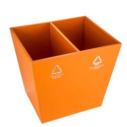 Das Luxushotel Oranger Leder kundenspezifisch anfertigen, das Mülleimer aufbereitet