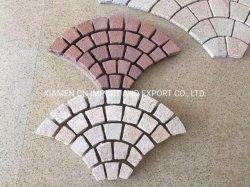 Естественный свет серый/Темно серый/черный/красного гранита/базальтовой/откинуть мощеной/куб каменными/Flagstone/Pavers/асфальтирование камень на сетку