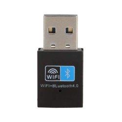 AdapterDongle USB-Bluetooth 4.0, 150m WiFi Netz LAN-Karten-Adapter für Schreibtisch