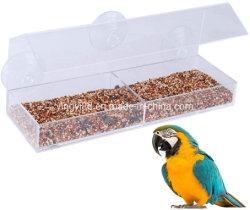Janela de acrílico venda quente Alimentador de Pássaros Ave Acrílico House