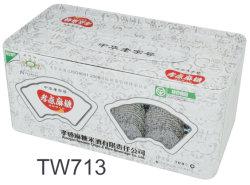 Boîte en métal pour les tissus de papier et de biscuit