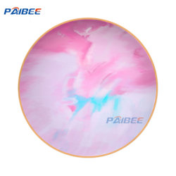 Paibee 12'' de la placa de cargador de rosa Juego de placas de cerámica plato de Bodas Juego de placas de porcelana china