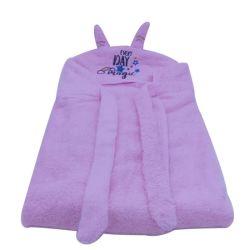 100% katoen Terry Baby Hooded handdoek met oor&tie Hoge kwaliteit Baby Terry badhanddoek fabrikant