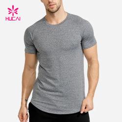 Vestiti asciutti di forma fisica degli uomini di misura di addestramento della maglietta all'ingrosso di usura