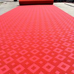 Moquette non tessuta 100% del pavimento del jacquard del velluto di colore perforata ago del poliestere doppia