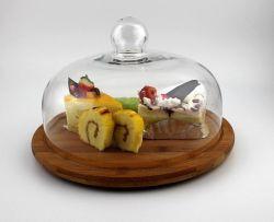 대나무 치즈 보드, 케이크/디저트 보드, 덮개 포함