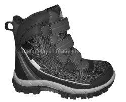 Los niños botas de nieve botas de piel cálido invierno botas de Velcro Non-Slip PU Grandes botas botas suave antideslizante botas botas al aire libre