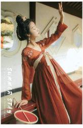 Hhf001 Amélioration de l'élément de Han brodé costume trois pièces pour la robe d'usure quotidienne des femmes