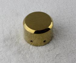 Tube rond en acier inoxydable de la main courante en bois Capot décoratif