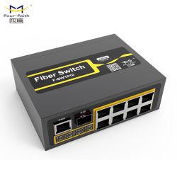 Four-Faith 10 Port DIN Rail Industrial Não Gerenciados Poe Switch Ethernet