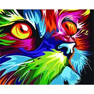 Animal Henistory Cat pintura lienzo pintura números Resumen enmarcado Oleo por números