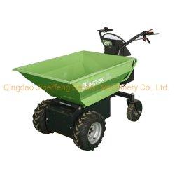 Mini chargeur de roue d'alimentation électrique Barrow Dumper basculement hydraulique 500kgs chargement lourd chariot transporteur Panier