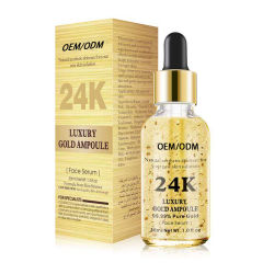 24K Gold сыворотку чистый органический OEM косметики гиалуроновая кислота сыворотку лучших Private Label кожа лица отбеливающих 20% против возраста витамина C сыворотку косметический уход за кожей