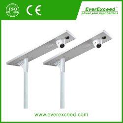 Everexceed todos em um 60W piscina IP67 LED solares OEM Street Jardim Luz de Estrada com controle remoto /Indução de microondas com câmara CCTV