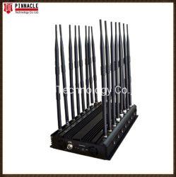 Todo en un teléfono móvil GPS Jammer/ Jammer WiFi/4G de la señal de celular Jammer