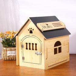 Venda a quente Mobiliário Gato Madeira Gaiola Pet cama de cão de estimação canil do aprovisionamento em produtos casa
