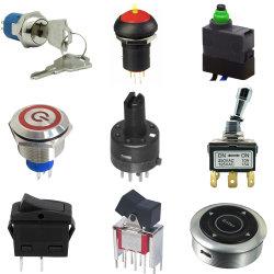 IP67は自動車部品のための電子LEDによって照らされるトグルロッカースイッチ押しボタンマイクロスイッチを防水する