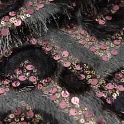 La moda francés lentejuelas Borla parte/tejido de encaje vestidos de novia