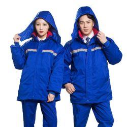 도매 정전기 방지옷 겨울철 비후가 가스 스테이션 워크샵 노동력 보호복 사용자 지정 콜드 패딩 코트